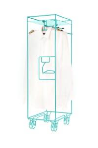 Bordbar outline Garderobenständer Kleiderständer stummer Diener Flugzeugtrolley